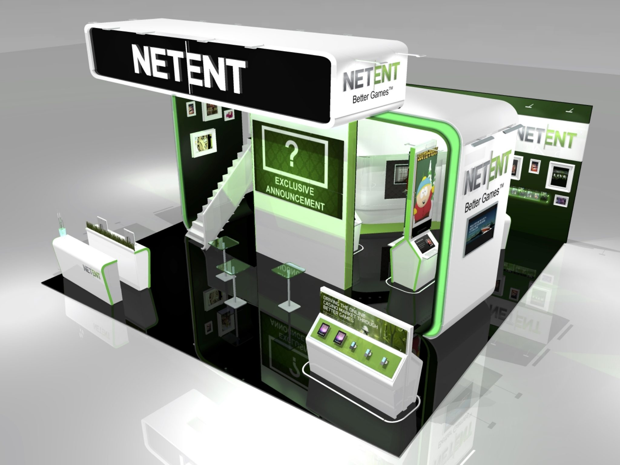 Exhibition Stand Games : Netent at eig & ice totally gaming ice agency exhibition stand design