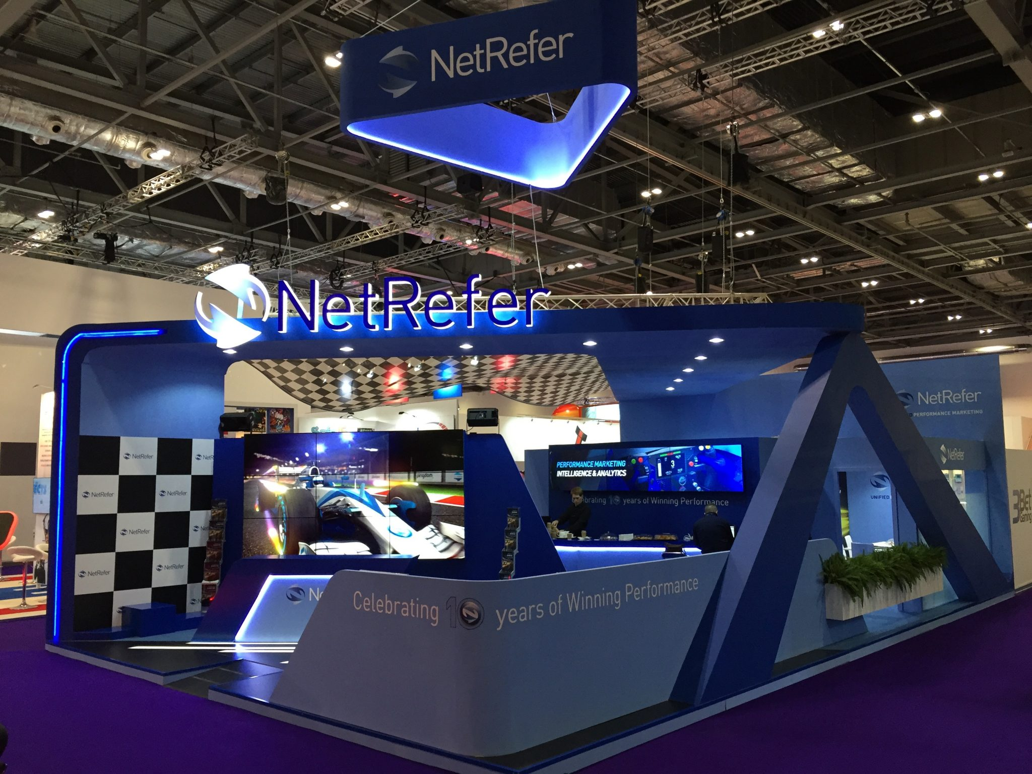 Our exhibition stand for NetRefer