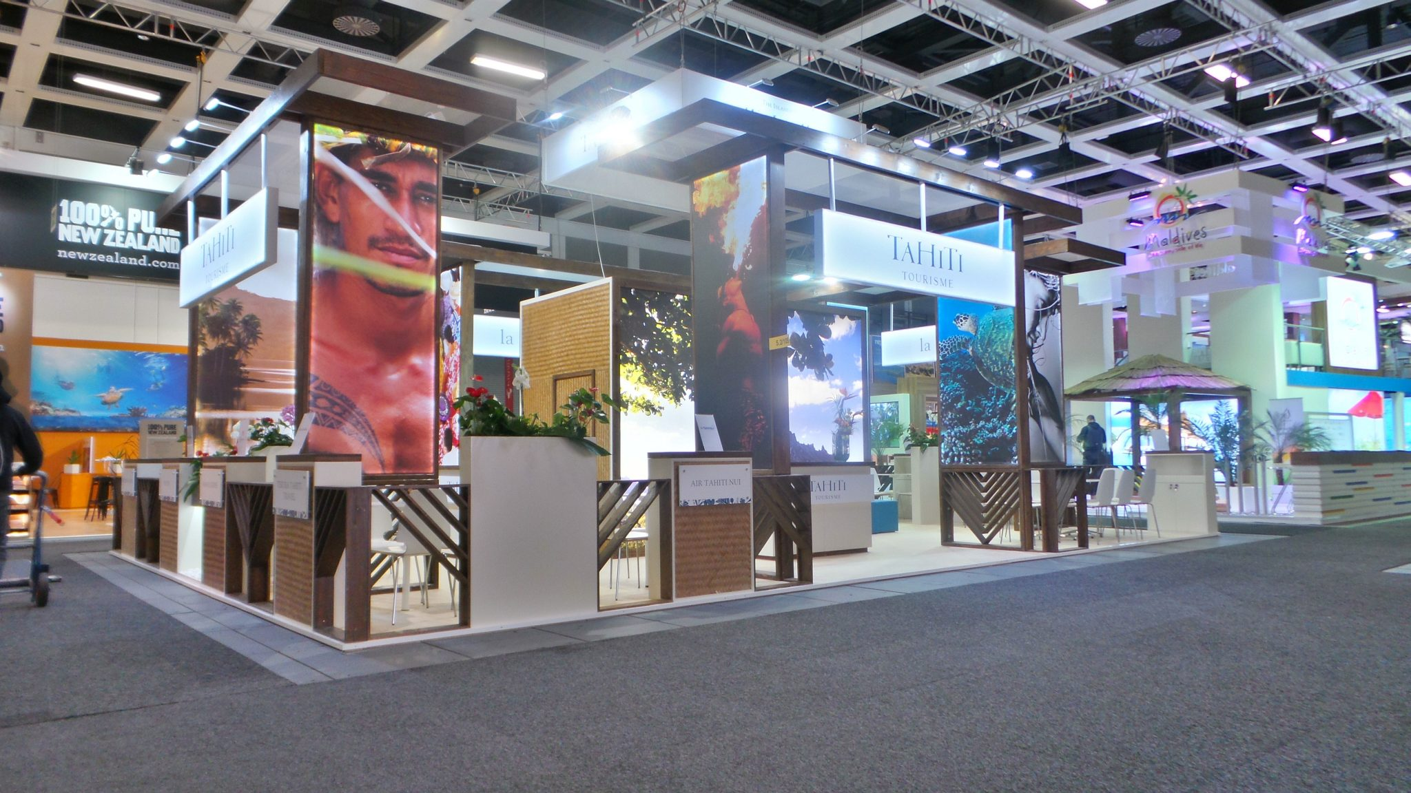 Our exhibition stand for Tahiti Tourism