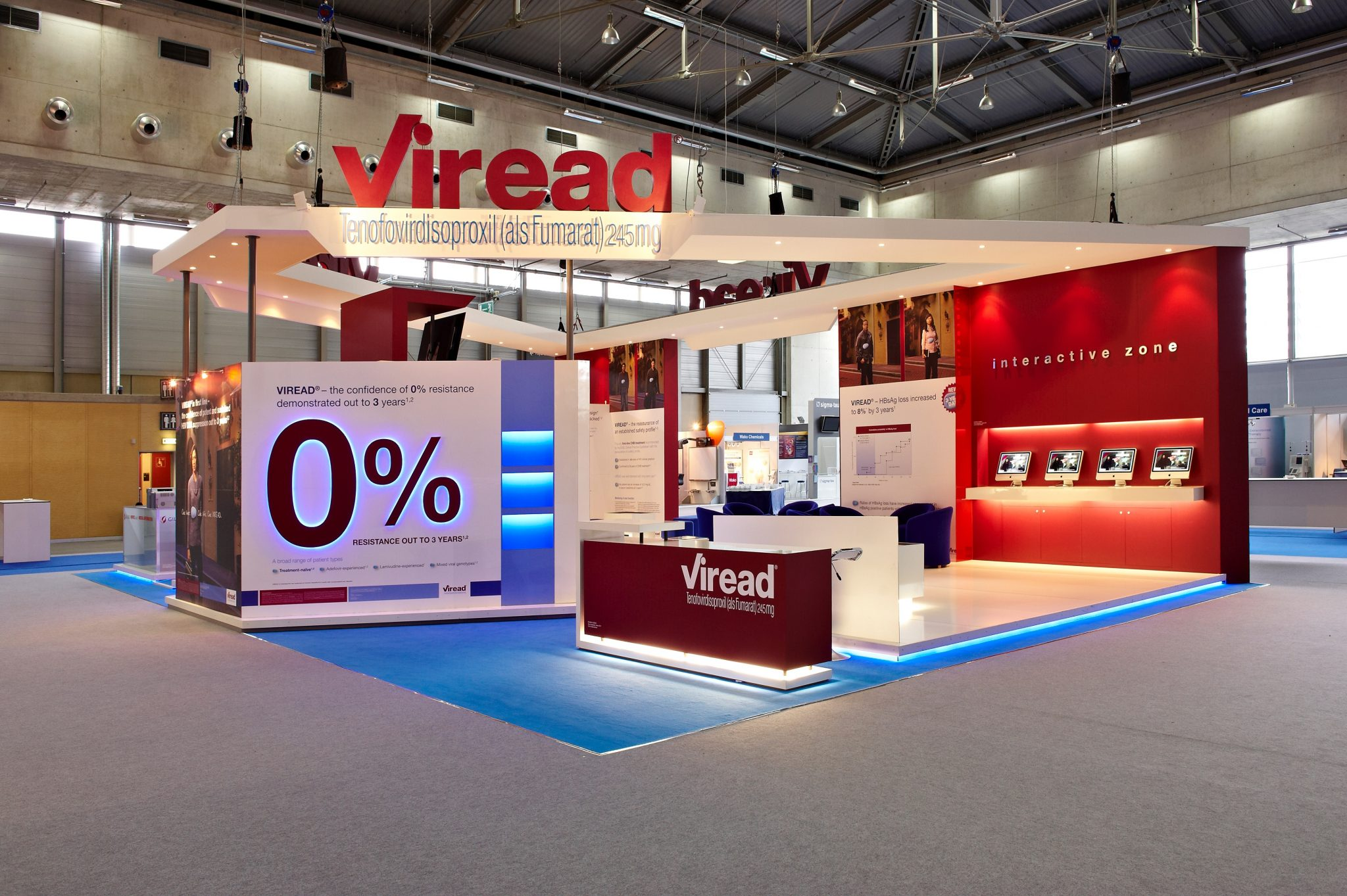 Viread's exhibition stand at EASL