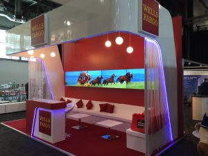Wells Fargo's exhibition stand at ACT