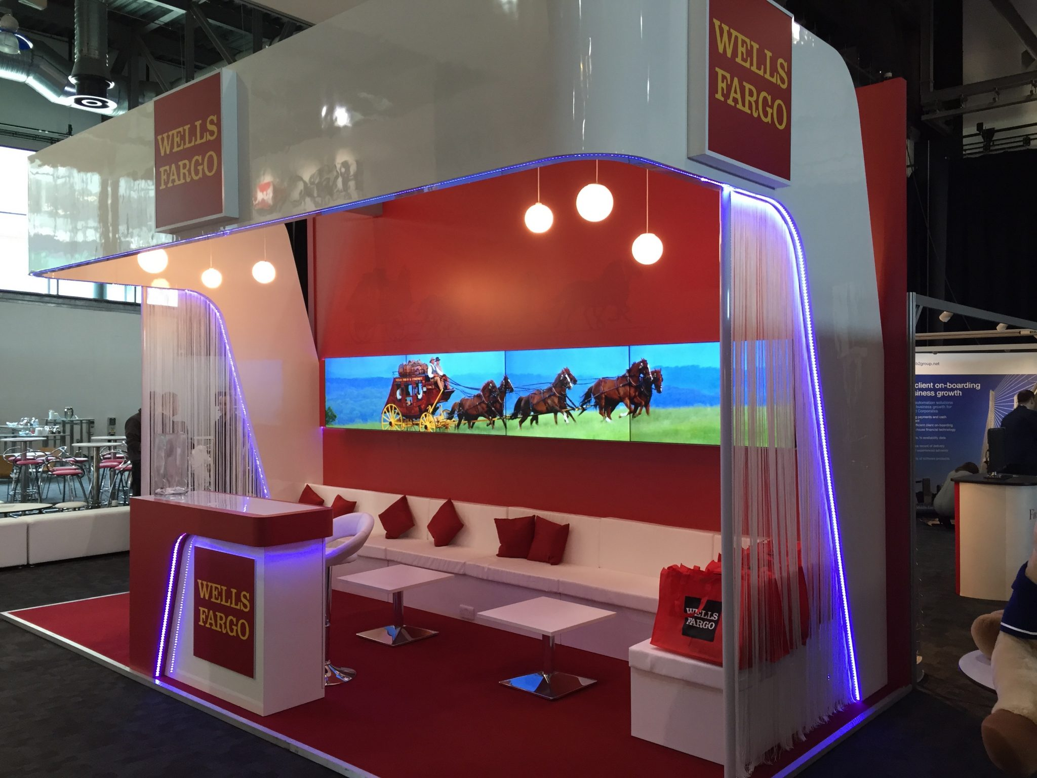 Exhibition Stand Design Companies Uk : Wells fargo at act the ice agency bespoke exhibition