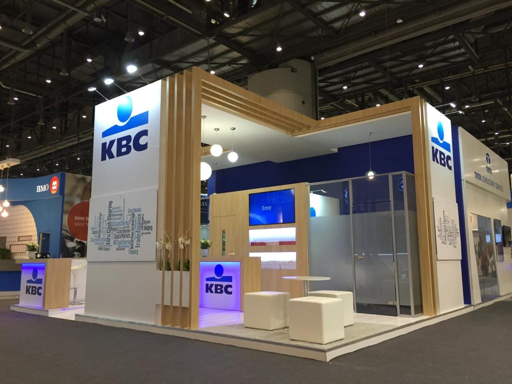 Exhibition Stand Design Agency : Kbc at sibos the ice agency exhibition stand design and